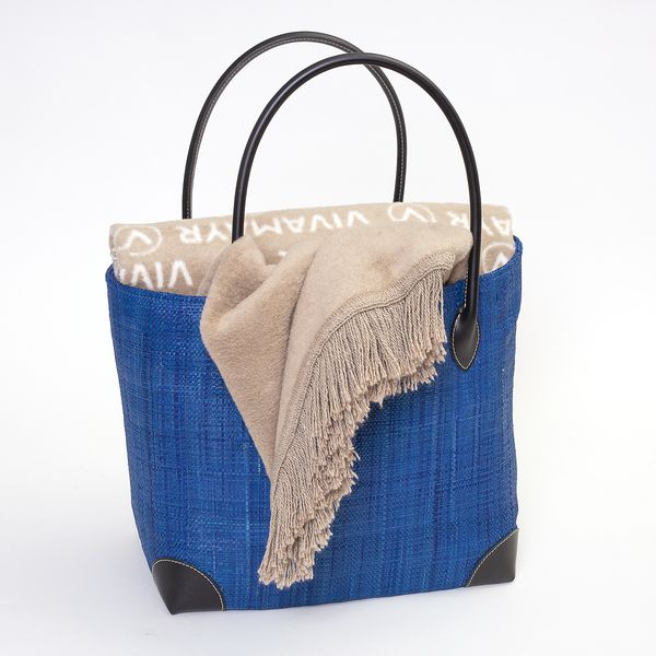 VIVAMAYR Basket Bag - Blue